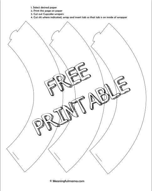 picture relating to Printable Cupcake Wrappers Templates identify Create Your Particular Cupcake Liner with Totally free Printable Cunning 2