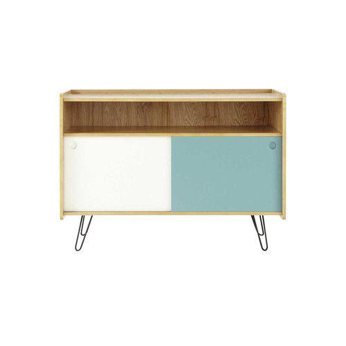 meuble tv vintage bicolore twist