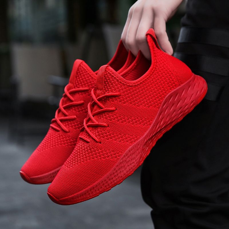 2310f14db8 Breathable Men Sneakers Male Shoes Adult Red Black Gray High Quality  Comfortable