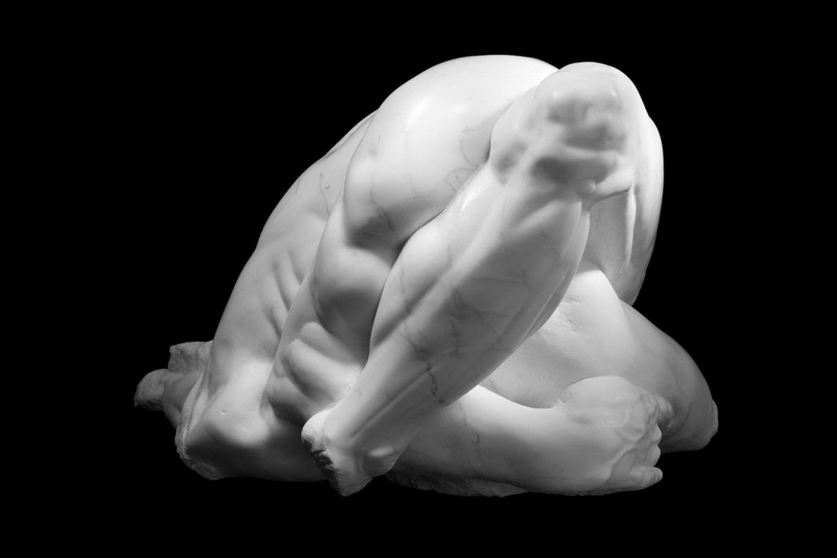 """Athar Jaber """"opus 4 nr.1"""" marble I think this is a real interesting way of depicting the figure, and it would have been interesting for the clay assignment"""