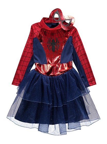 Marvel Spidergirl Fancy Dress Costume read reviews and buy online at George. Shop from  sc 1 st  Pinterest & Marvel Spidergirl Fancy Dress Costume read reviews and buy online ...