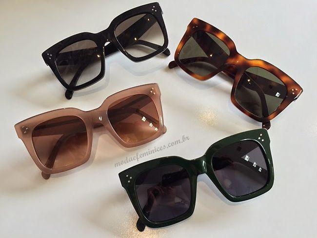 73ebfa7226e1a Óculos Celine de linha Tilda   Estilo