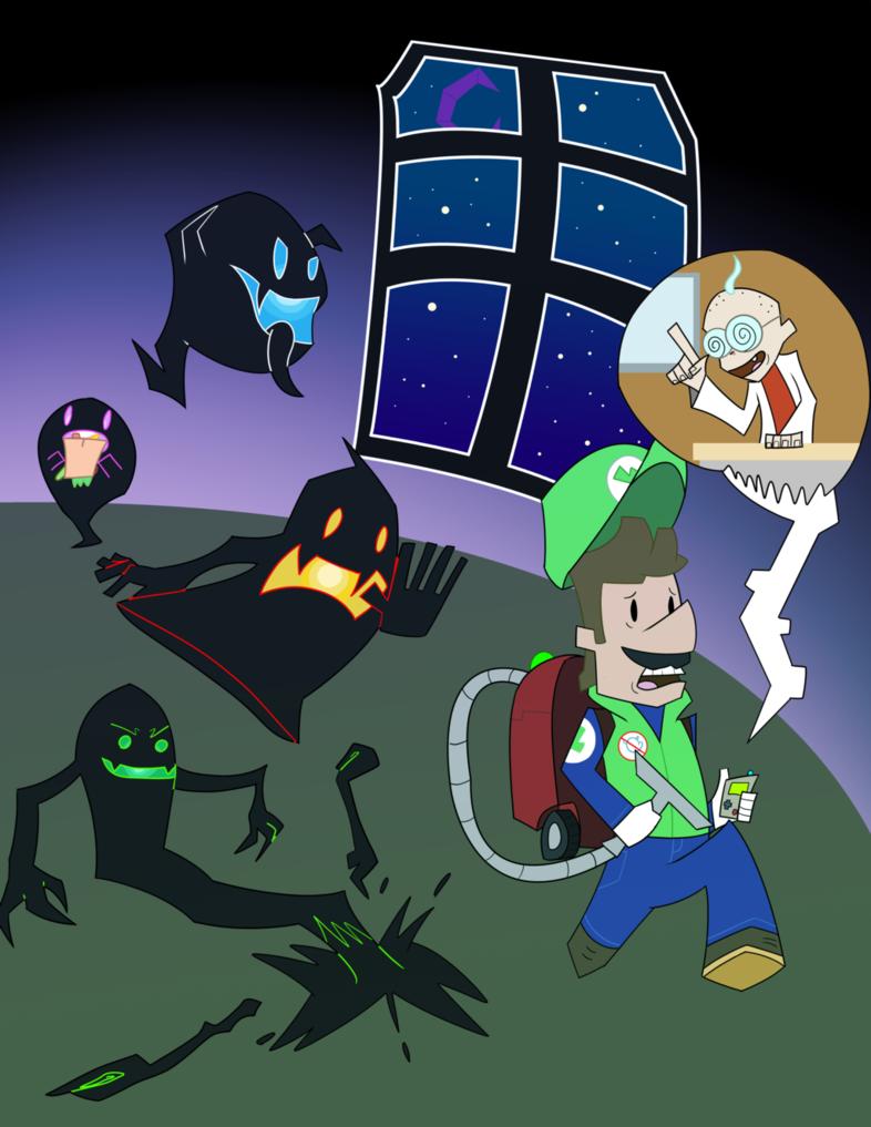 Luigi's Mansion by jaquaza