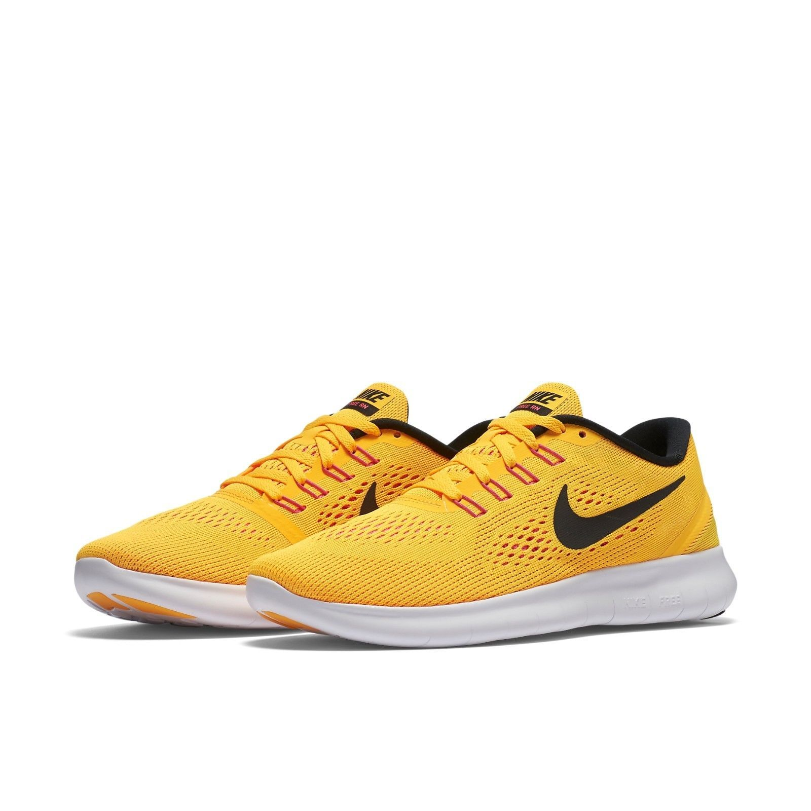 reputable site cab72 dccc0 ... greece womens nike free rn running shoes new orange pink black 100  696c1 e242a
