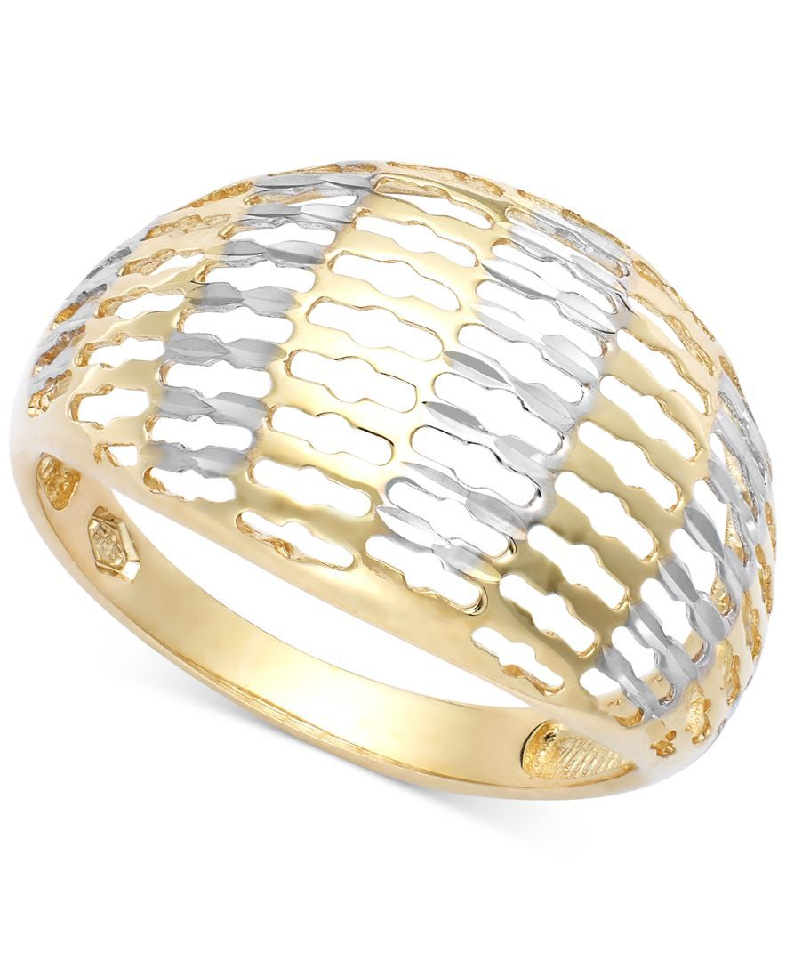Oval Dome Ring in 14k Gold
