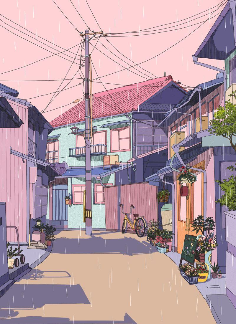 Streets Konsept Sanati Dijital Ilustrasyon Illustrasyon Posterleri