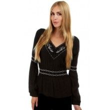 ae6ad0140737f4 BLACK SILVER WHITE GOTHIC MEDIEVAL LONG SLEEVE GYPSY PEASANT TOP BLOUSE 8-12