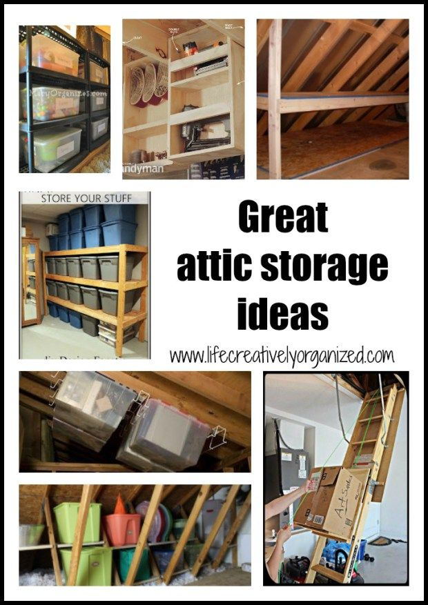 Great Attic Storage Ideas Life Creatively Organized Attic Storage Attic Storage Organization Garage Attic Storage