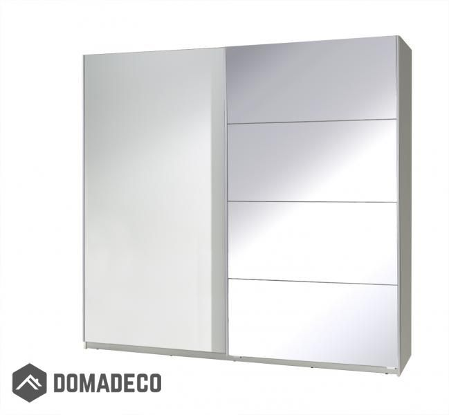 Twist Sliding Wardrobe With Mirror Wardrobes Single Door