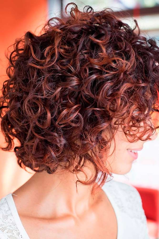 Short Curly Hairstyles For Thick Hair Medium Leng Hair Cut In 2019