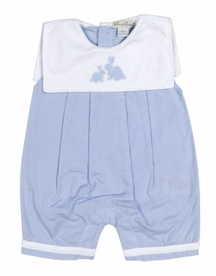 bef8d1ef21 Kissy Kissy Baby Boys Blue Gingham Cottontail Easter Bunny Romper ...