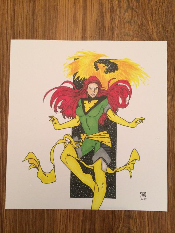 Phoenix Character Print by Num1XMNART on Etsy, $15.00