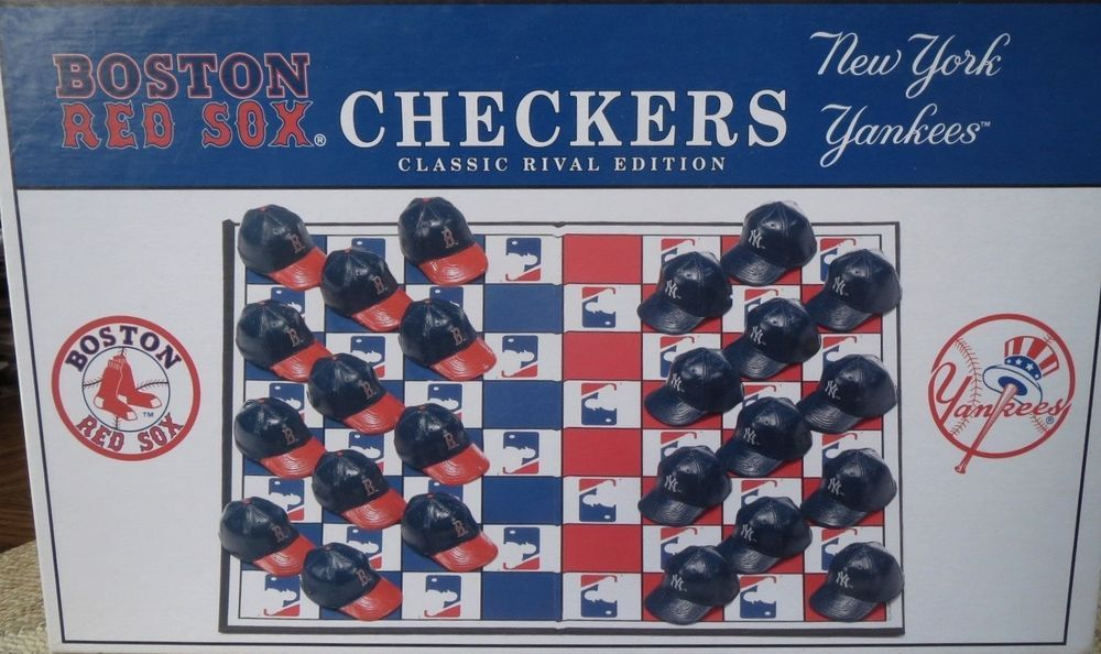 8449ab2d Boston Red Sox Vs New York Yankees Checkers Game Baseball Classic Rival  Edition #BigLeaguePromotions