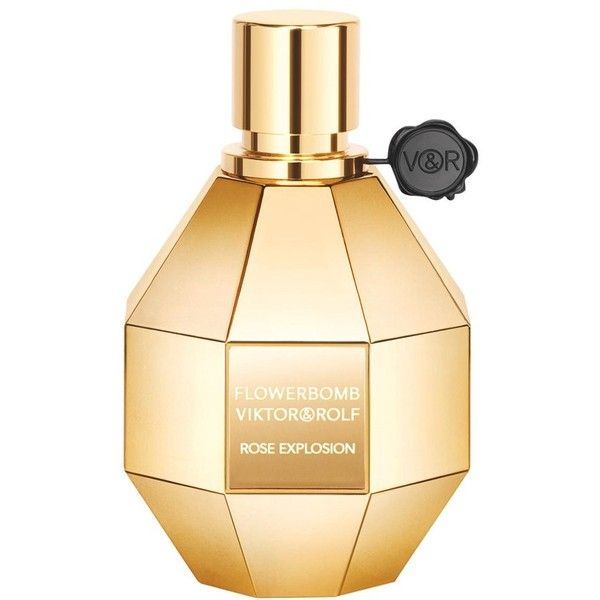 Viktor & Rolf 'Flowerbomb Rose Explosion' Eau de Parfum (12,245 INR) ❤ liked on Polyvore featuring beauty products, fragrance, perfume, no color, rose perfume, perfume fragrances, rose fragrance, edp perfume and eau de parfum perfume