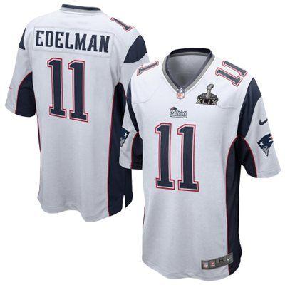 save off cb62f 11ce1 Mens New England Patriots Julian Edelman Nike White Super ...