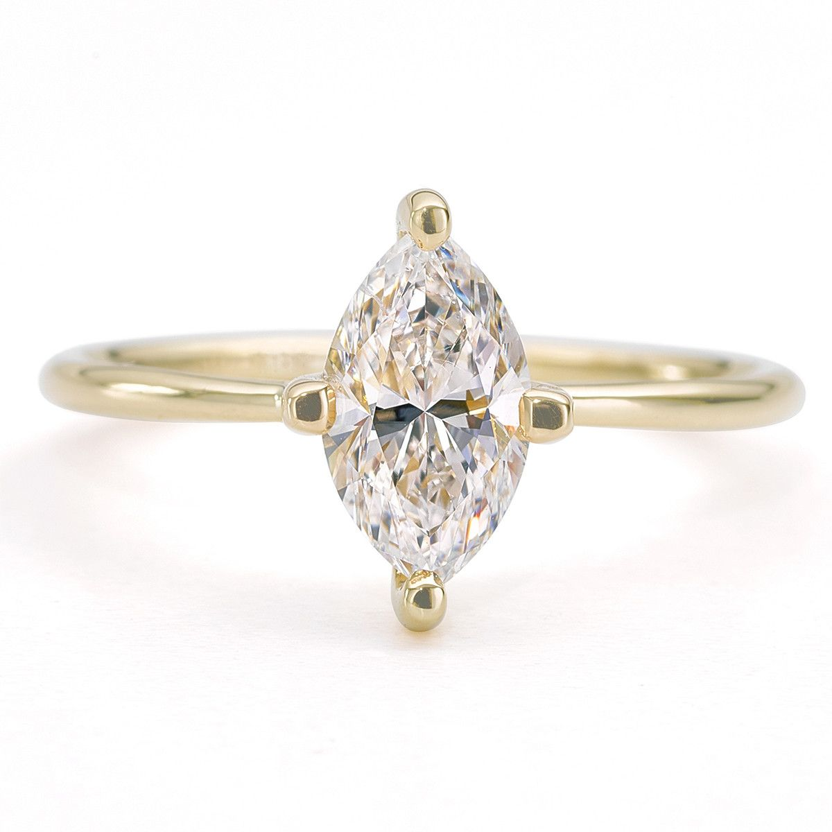 Timeless Marquise Diamond Engagement Ring In A Lightweight G Setting The Is Set With One Carat Cut Materials Solid Gold 1 Ca