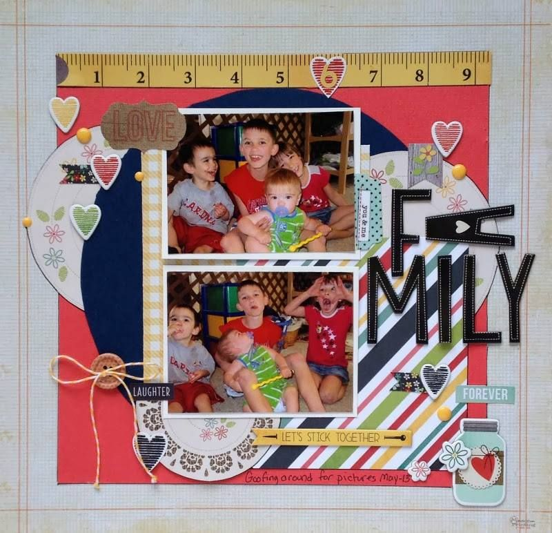 Layout shared with us by Christine Freet Meyer using our Homespun collection