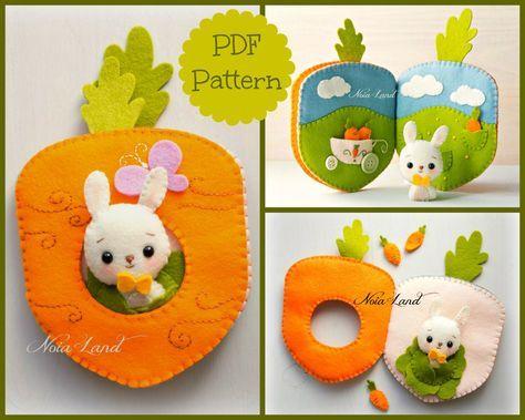 Carrot book. Bunny orchard activity book | Pinterest | Selber machen