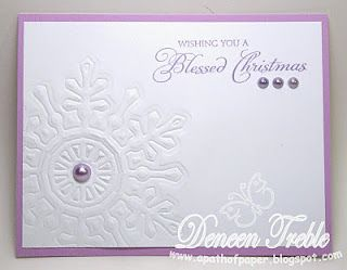 Quick Christmas Cards, Spellbinder's Embossed Snowflake, Clean and Simple
