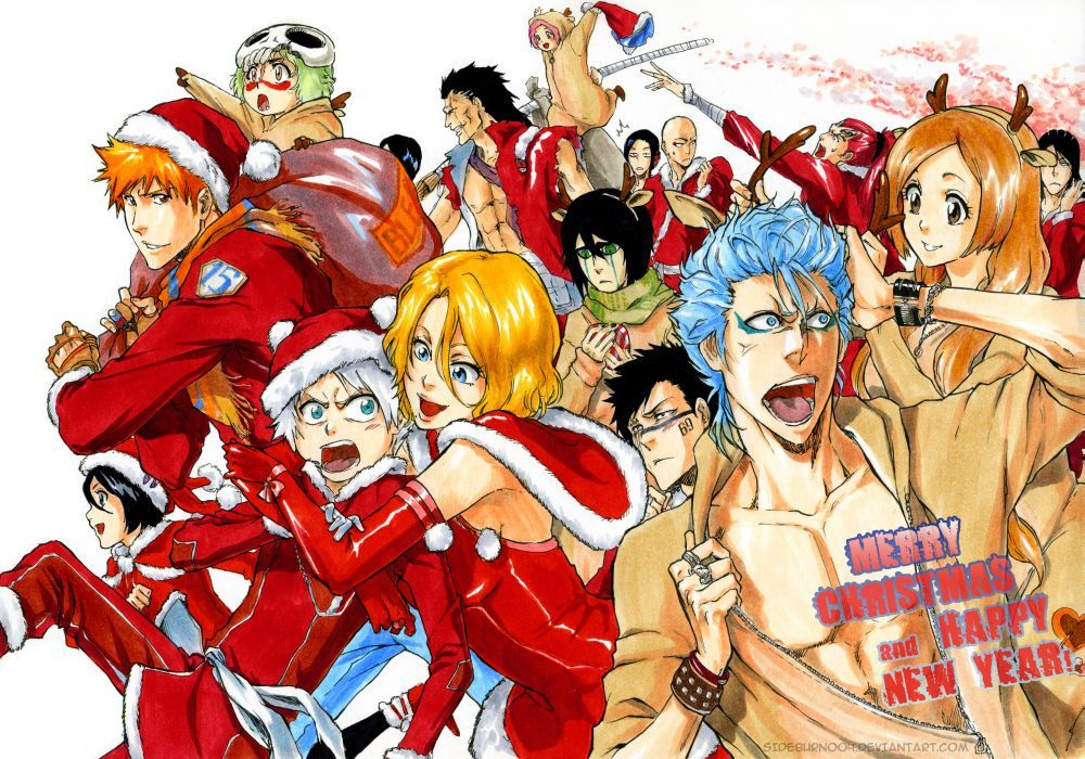 Happy New Year Anime Bleach Merry Christmas And Happy New Year