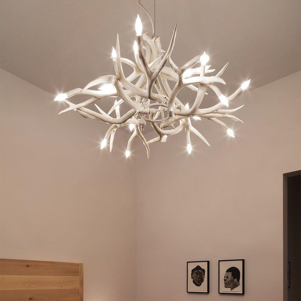 Superordinate antler chandelier 24 antlers