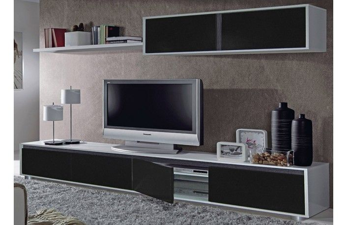 Sal n blanco y negro de melamina estilo minimalista - Muebles de salon de diseno minimalista ...