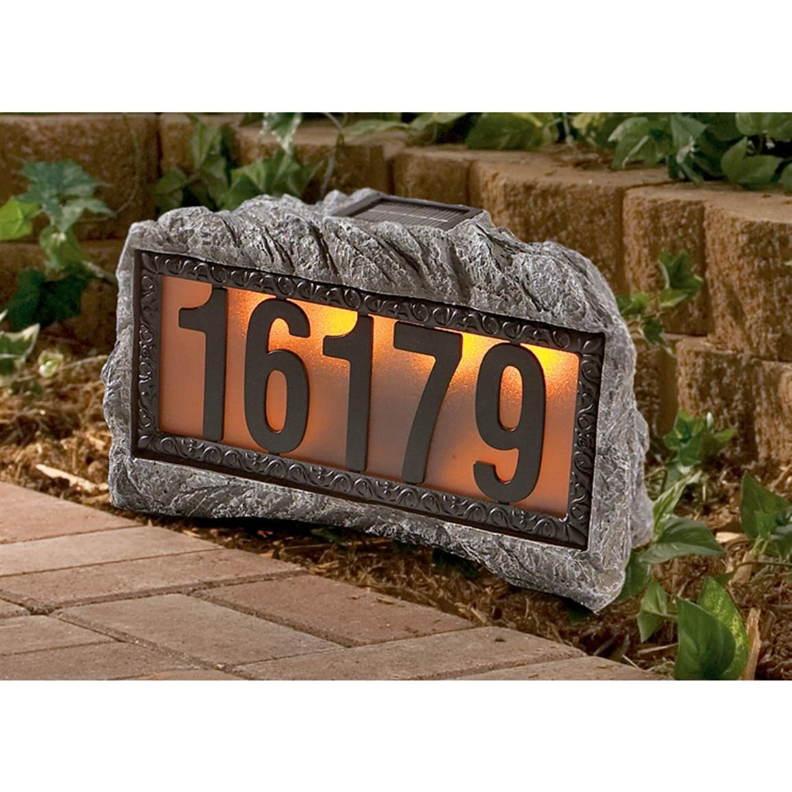 Westinghouse Solar Powered House Number Rock 93784 Solar