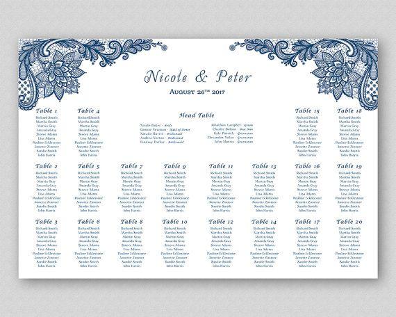 Kraft wedding seating chart poster board sign printable table plan digital template elegant ornate lace on card  also rh pinterest