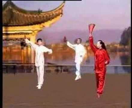Kung fu fan (Beauty of sun setting) - YouTube   Yang Style