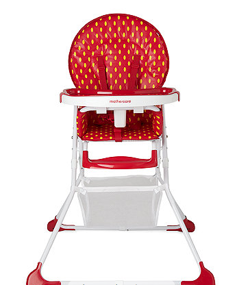 Strawberry Highchair Mothercare Red High Chair available