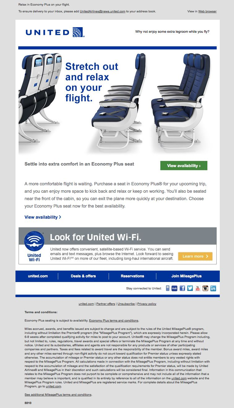 After Booking A Flight We Received This FollowUp Email From
