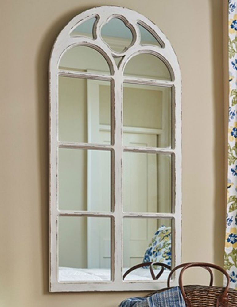 Park Designs Vintage Distressed Wooden Arched Wall Mirror Glass Is Broken Window Mirror Arched Window Mirror Wood Windows