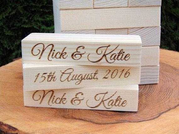 Wedding Guest Entertainment Ideas: Custom Giant Wood Blocks Wedding Jenga By