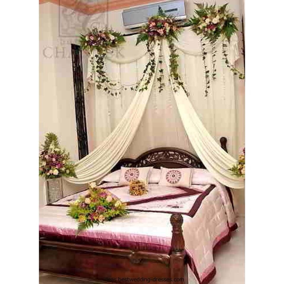 Indian wedding bedroom decoration ideas - For The Newly Married Couples Wedding Bedroom Design Is Suitable For You Wedding Bedroom Design Has A Romantic And Comfortable Design