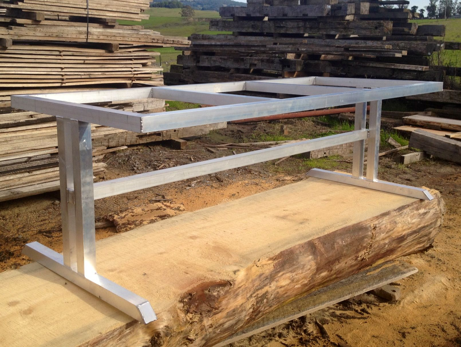 Amazing Aluminum Trestle Table Base Custom Fabricated By Blacku0027s Farmwood