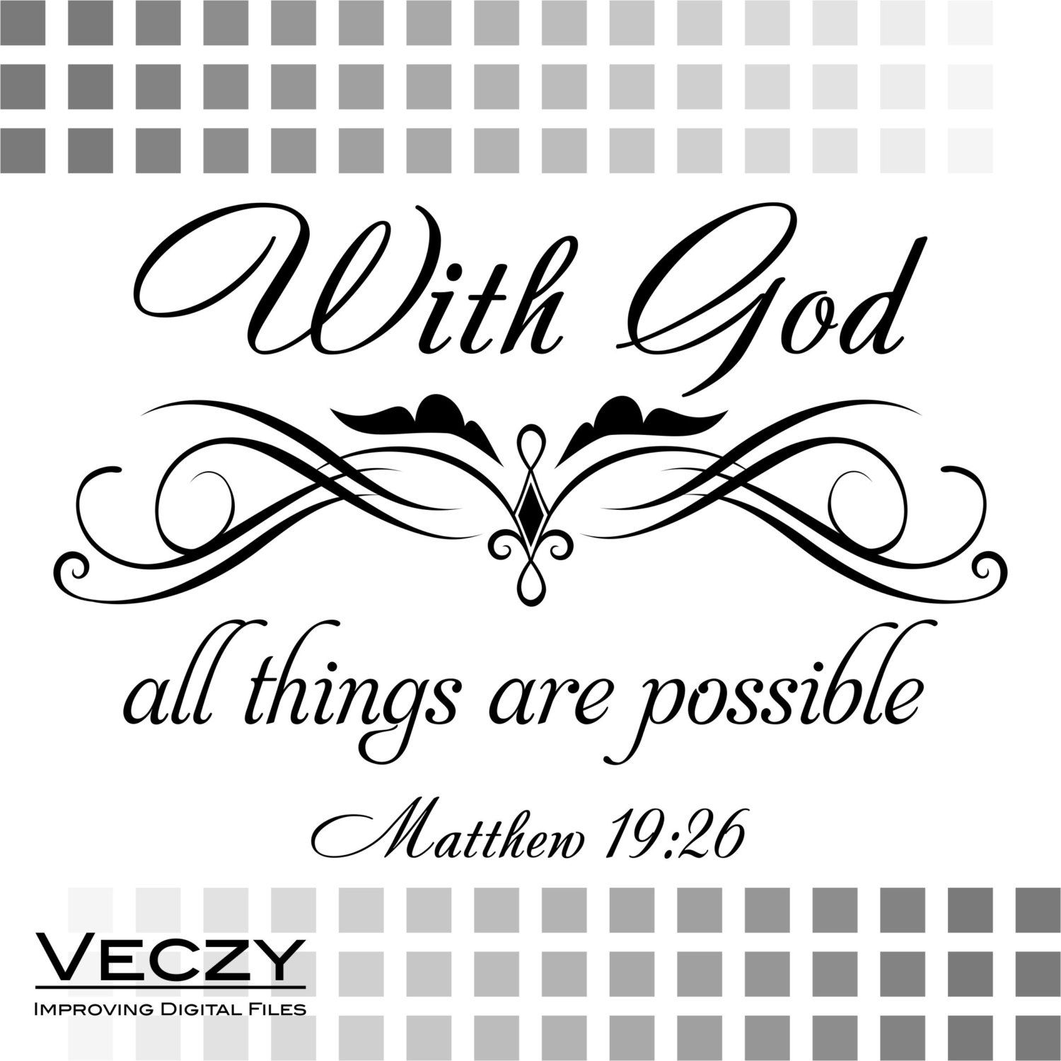 Svg File With God All Things Are Possible Matthew 19 26
