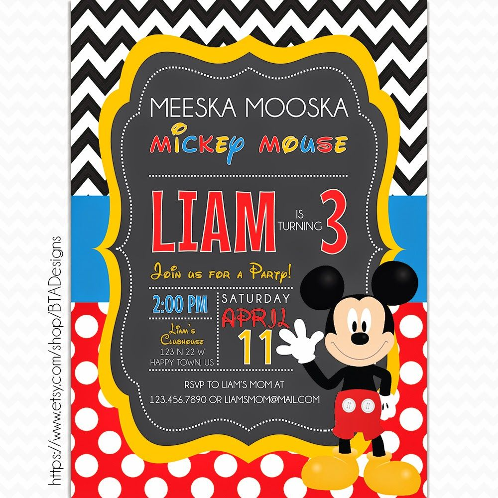 Free Printable Mickey Mouse Clubhouse Birthday Invitations ...
