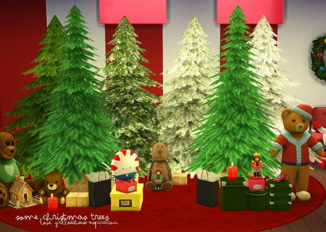 Christmas Trees At Grilled Cheese Aspiration Via Sims 4