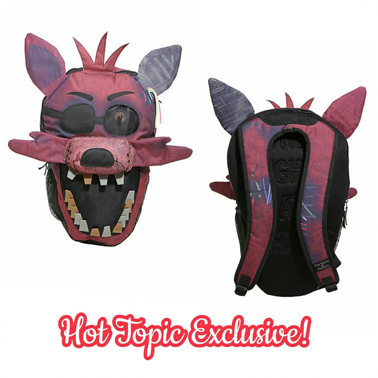 Five Nights At Freddy's Foxy (The Pirate) Face Character Backpack by Bioworld - Hot Topic Exclusive