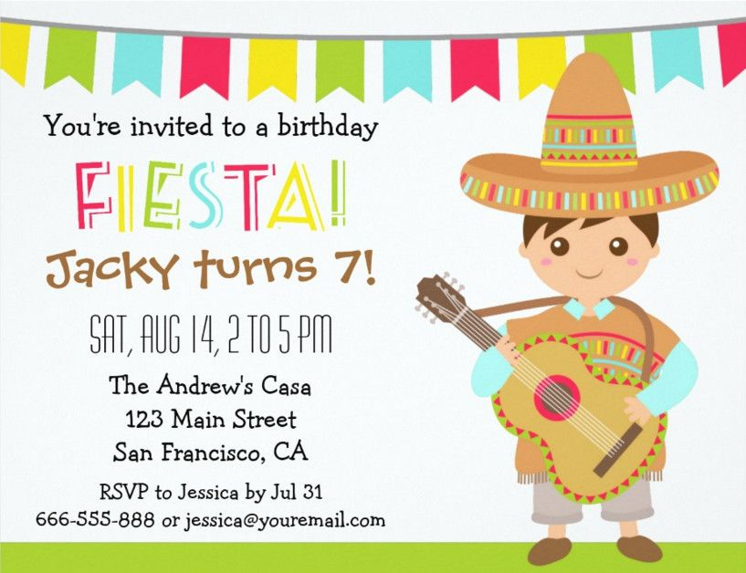 Mexican Fiesta Invitation Templates Free – Free Template for Party Invitation