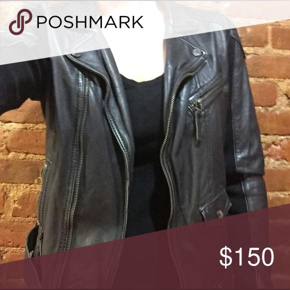 Vintage Black Leather Jacket from Oakwood (French) Vintage