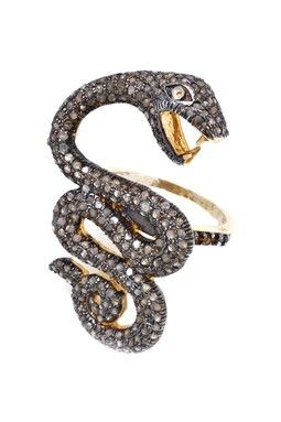Pave Diamond Serpent Swirl Ring - 1.50 ctw