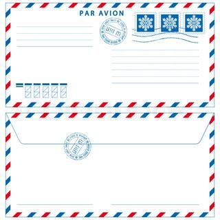 Vintage Airmail Envelope Template Printable   Google Search