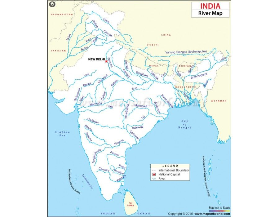 Buy india river map india and rivers buy india river map gumiabroncs Images