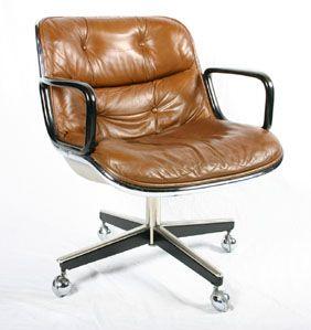 Knoll Pollock Swivel Office Arm Chair 1965