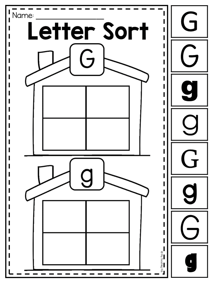 Letter G Sorting Worksheet Students Are Given The Opportunity To Trace Letters Formulate Their Preschool Letters Preschool Letter B Letter B Worksheets