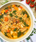 Chickpea Noodle Soup ~ Vegan Version of a Classic ~ It's All About Vegan #chickpeanoodlesoup