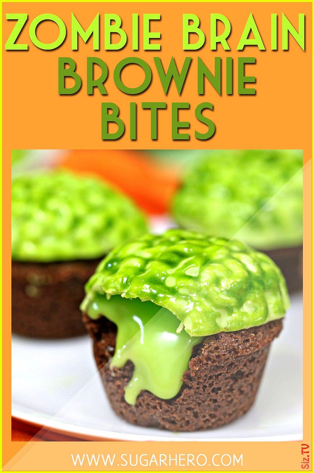 Brain Brownie Bites Video Zombie Brain Brownie Bites Video SugarHero  Elizabeth LaBau SugarHero  El
