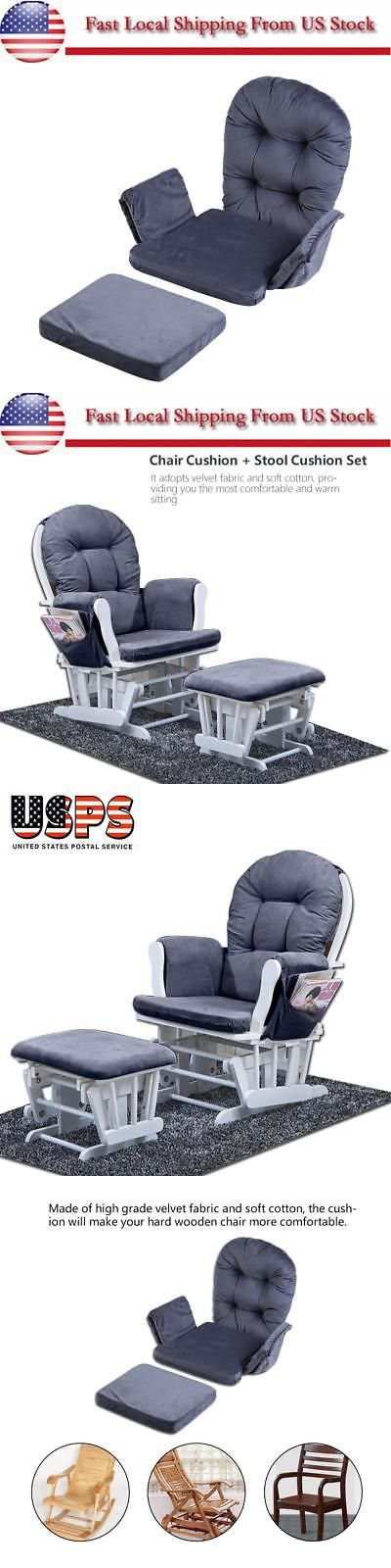 For Baby Nursery Rocker Rocking Chair Glider /& Ottoman Stool Seat Soft Cushion