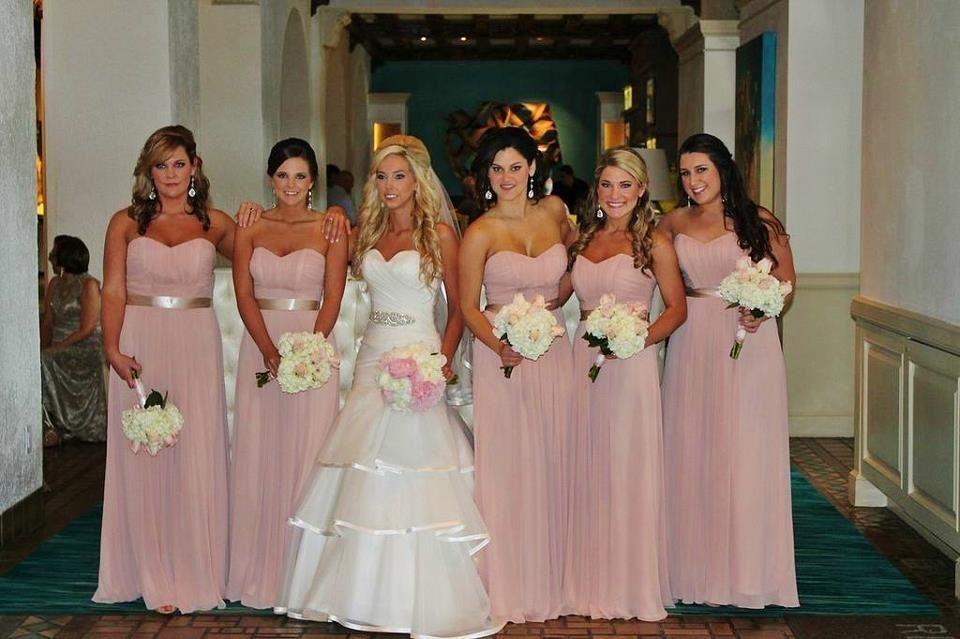 Stunning Wedding Dresses In Beige And Blush: Blush Pink Bridesmaid Dresses